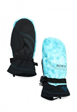 Варежки горнолыжные Roxy. Цвет: бирюзовый