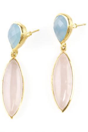 Серьги Donna Lorena. Цвет: голубой, розовый