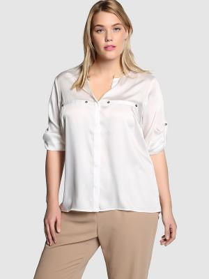 Блузка COUCHEL. Цвет: белый