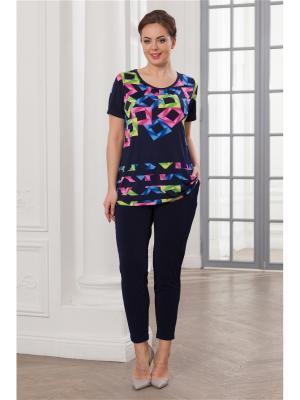 Комплект одежды CLEO. Цвет: темно-синий, малиновый, синий