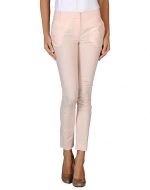 Повседневные брюки GOLD CASE. Цвет: светло-розовый