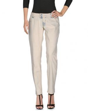 Джинсовые брюки RA-RE. Цвет: слоновая кость