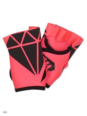 Спортивные перчатки для фитнеса DIAMONDS Malinasport. Цвет: коралловый