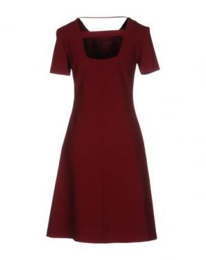 Платье до колена SPACE STYLE CONCEPT. Цвет: красно-коричневый