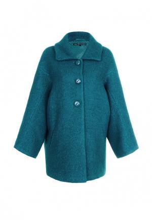 Пальто JN. Цвет: бирюзовый