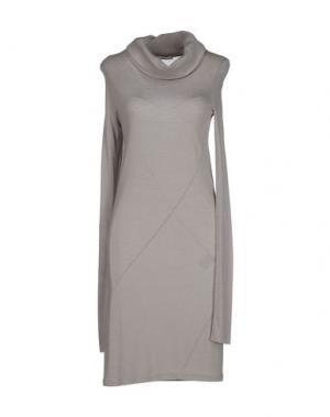 Короткое платье CLIÓ. Цвет: светло-серый