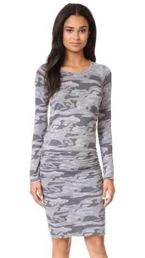 Камуфляжное платье с длинными рукавами MONROW. Цвет: гранит