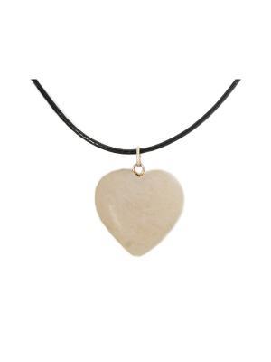 Подвеска Stone Heart Indira. Цвет: бежевый
