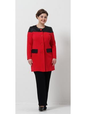 Пальто Lina. Цвет: красный