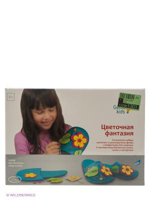Набор для детского творчества Цветочная фантазия GENIO KIDS. Цвет: светло-коричневый, лазурный