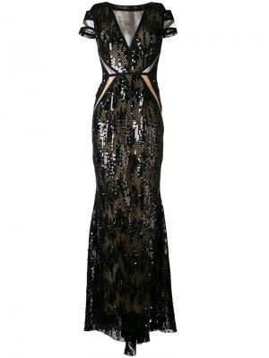 Вечернее платье North Way Talbot Runhof. Цвет: чёрный