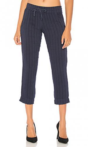 Потертые укороченные брюки Bella Dahl. Цвет: синий