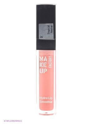 Блеск для губ, тон 24 Тропический нектар Make up factory. Цвет: рыжий