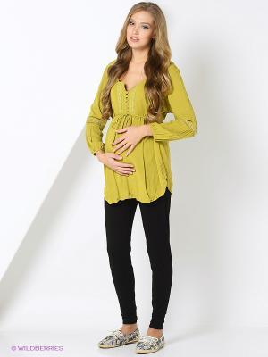 Блуза EUROMAMA. Цвет: салатовый