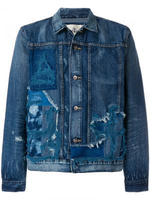 Джинсовая рубашка с рваными деталями Levis: Made & Crafted Levi's:. Цвет: синий