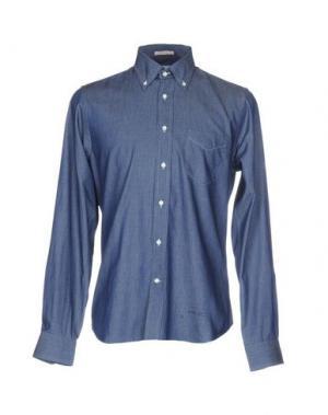 Джинсовая рубашка GANT RUGGER. Цвет: синий