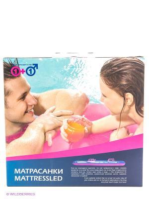 Матрас надувной водный с ручками Матрасанки Экспедиция. Цвет: розовый, голубой