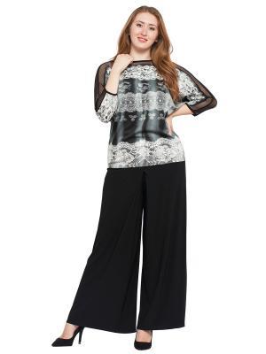 Блузка Lady Di. Цвет: черный, белый, серый