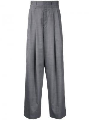 Широкие брюки Wooyoungmi. Цвет: серый