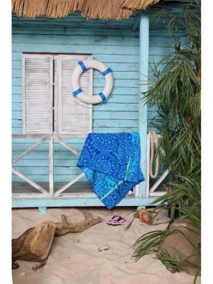 Полотенце пляжное Фиджи 90*170 цв. синий TOALLA. Цвет: синий
