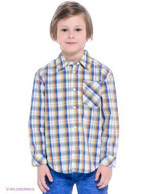 Рубашка S.OLIVER. Цвет: синий, светло-зеленый, оранжевый, белый