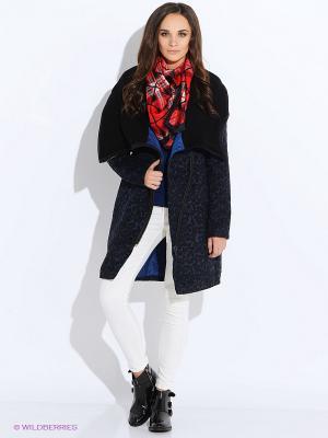 Пальто Anna Scott. Цвет: темно-синий