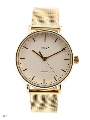 Часы TIMEX. Цвет: золотистый