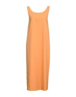 Длинное платье ANTONELLI. Цвет: оранжевый