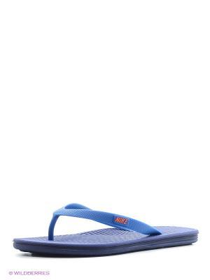 Шлепанцы SOLARSOFT THONG II Nike. Цвет: фиолетовый