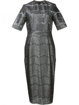 Платье Donatella Rebecca Vallance. Цвет: металлический