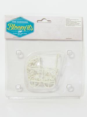 Коляска детская для мини сада Bloomits. Цвет: белый