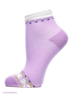 Носки, 2 пары Cascatto. Цвет: сливовый, сиреневый, светло-серый