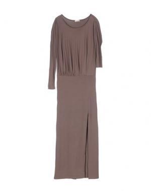 Длинное платье CLIÓ. Цвет: темно-коричневый