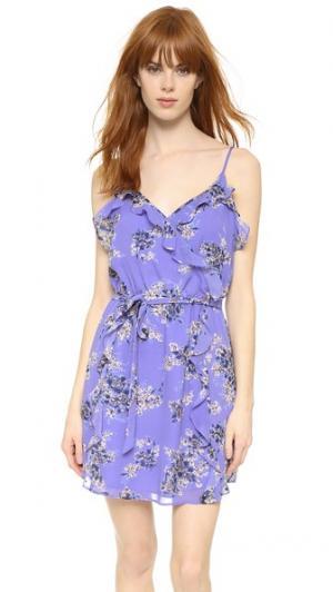Шелковое платье Foxglove Joie. Цвет: фиолетово-голубой
