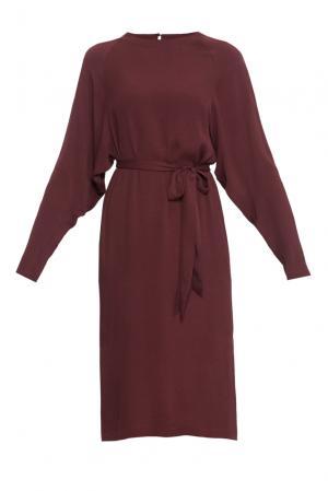 Платье с поясом 163646 Cyrille Gassiline. Цвет: красный