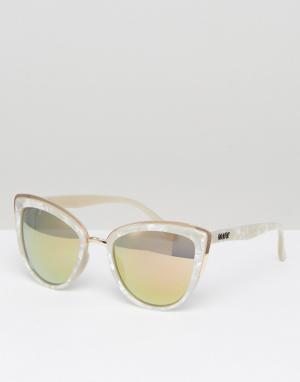 Quay Australia Солнцезащитные очки кошачий глаз в белой оправе My Girl. Цвет: белый