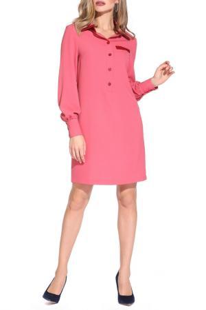 Платье Gloss. Цвет: розовый, бордовый