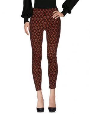 Повседневные брюки ROBERTA BIAGI. Цвет: ржаво-коричневый