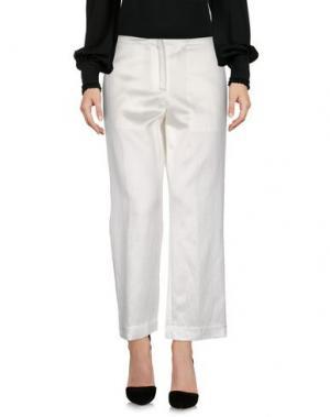 Повседневные брюки PEACHOO+KREJBERG. Цвет: белый