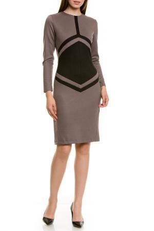 Платье LeVall. Цвет: бежевый