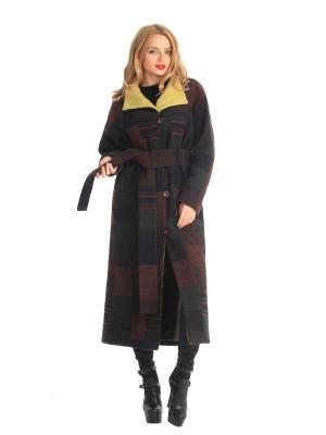 Пальто Artwizard. Цвет: коричневый, горчичный