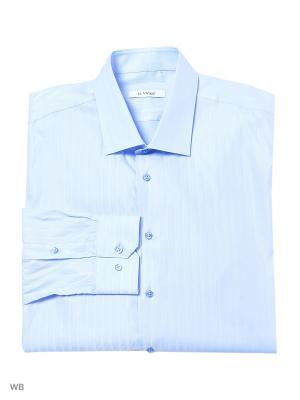 Рубашка lawiggi. Цвет: голубой