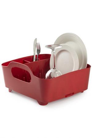 Сушилка для посуды Tub UMBRA. Цвет: красный