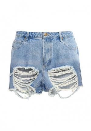 Шорты джинсовые The Fifth. Цвет: голубой