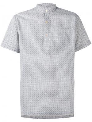 Рубашка с короткими рукавами и узором Lardini. Цвет: телесный