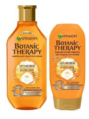 Шампунь+Бальзам Botanic Therapy. Аргановое масло, камелиядля тусклых, непослушных волос,400+200 мл Garnier. Цвет: белый