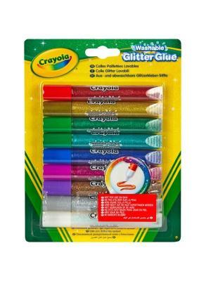 Клей с блестками 9 цветов Crayola. Цвет: желтый