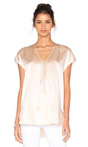 Облегающая блуза с коротким рукавом Vince. Цвет: беж