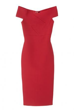 Платье-футляр Belvedere Roland Mouret. Цвет: малиновый