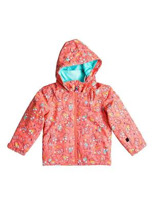 Куртка ROXY. Цвет: бледно-розовый, бирюзовый, светло-коралловый